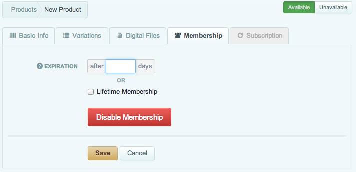 Sell with WordPress | Cart66 Creating Memberships