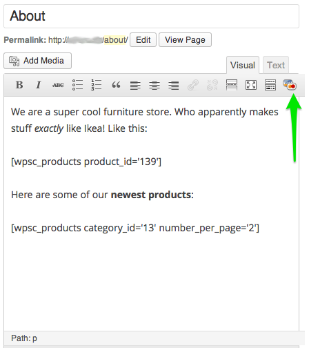 Sell with WordPress | WP eCommerce Plugin Adding Products via Shortcodes