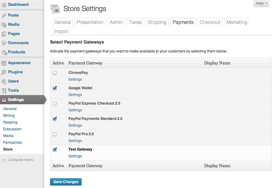 Sell with WordPress | WordPress eCommerce Plugin Payment Options
