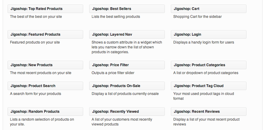 Sell with WordPress | Jigoshop Widgets