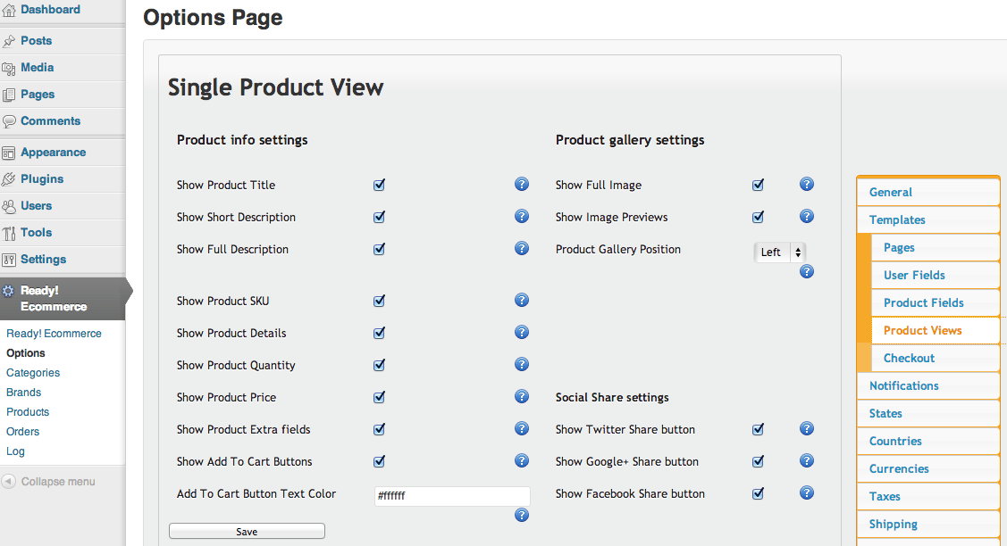 Sell with WordPress | Ready! Cart Product View