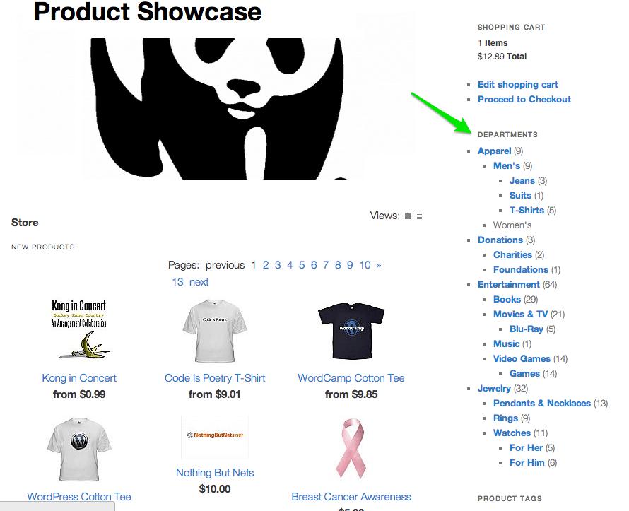 Sell with WordPress   Shopp Catalog Widget