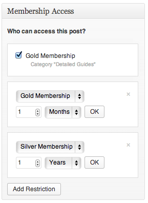 Sell with WordPress | Exchange Membership Restricting Posts/Pages