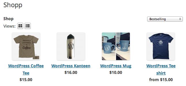 Shopp 1.3 Shopping / Catalog Page
