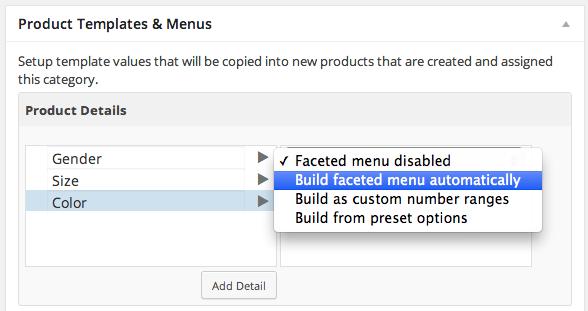 Shopp 1.3 Faceted Drill down Menus