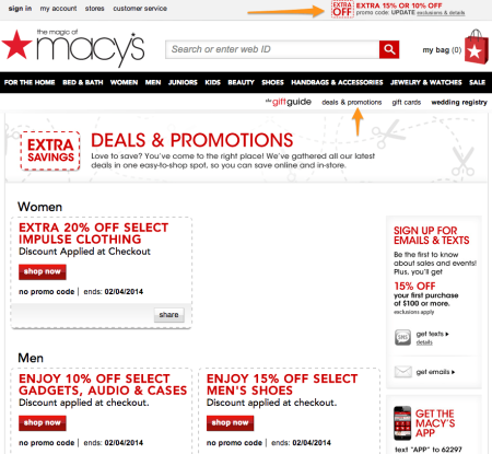 Sell with WP Effective Shipping Rates | Macy's Discount Page