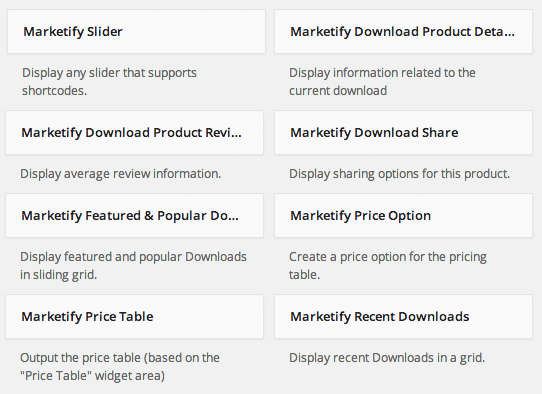 Sell with WP Digital Goods Marketplace   Built-in Marketify Widgets