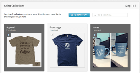 Integrating Shopify and WordPress | Choosing Collections