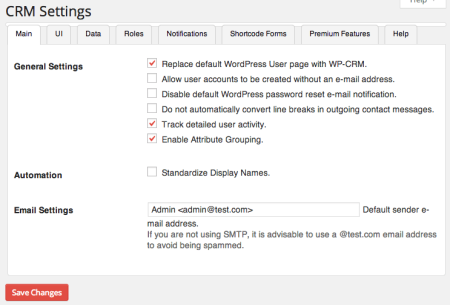 Sell with WP | WP CRM plugin Settings
