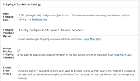 WP eStore Review | Setting Shipping Rates