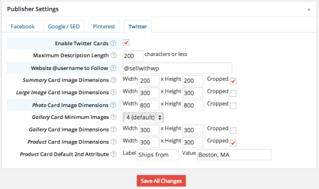 WPSSO Review   Twitter Settings