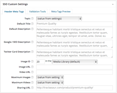 WPSSO Review   WooCommerce Product Settings