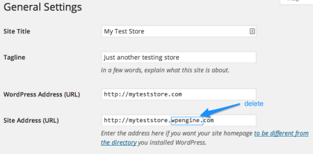 WP Engine Review   Change Site URLs