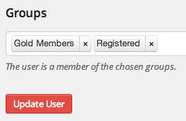 Add Group to User