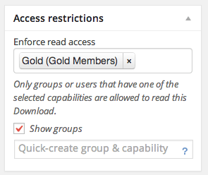 Restrict Access to Membership