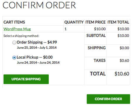 Shopp Confirm Shipping if not entered on cart page