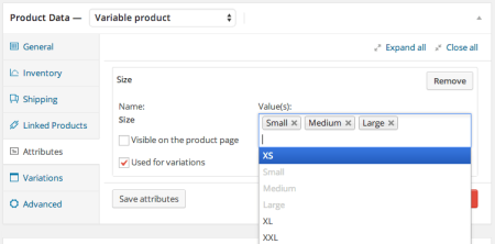 WooCommerce add product attribute terms