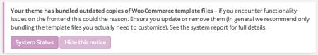 WooCommerce themes | Tesla: Zeon templates notice