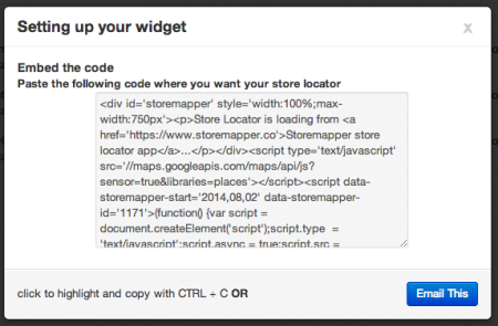 StoreMapper WordPress Embed Code