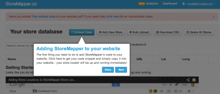 StoreMapper WordPress integration