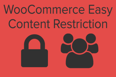 WooCommerce Easy Restricted Content Review