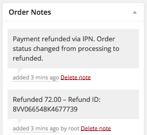 WooCommerce 2.2 Refund Order Notes