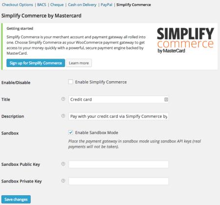 WooCommerce 2.2 Simplify Commerce