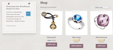 Artificer Shop Page