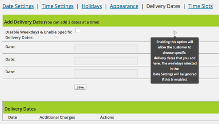 WooCommerce Order Delivery Date plugin review | Date settings