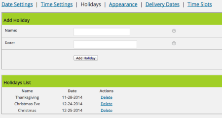 WooCommerce Order Delivery Date plugin review | Holiday Settings