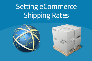 set eCommerce shipping rates