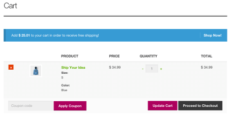Storefront Best free WooCommerce theme | Cart Notices