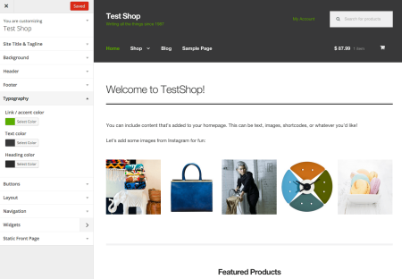 Storefront Best free WooCommerce theme | customizer