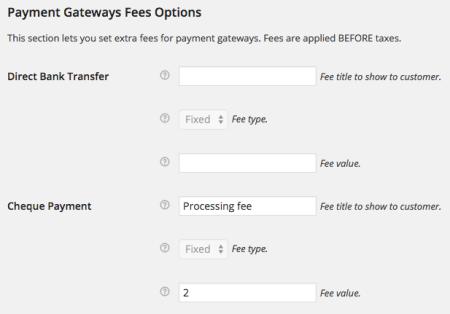 WooCommerce Jetpack Gateway fees