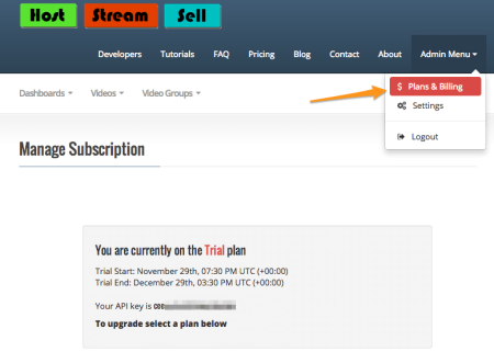 HostStreamSell Review | api keys