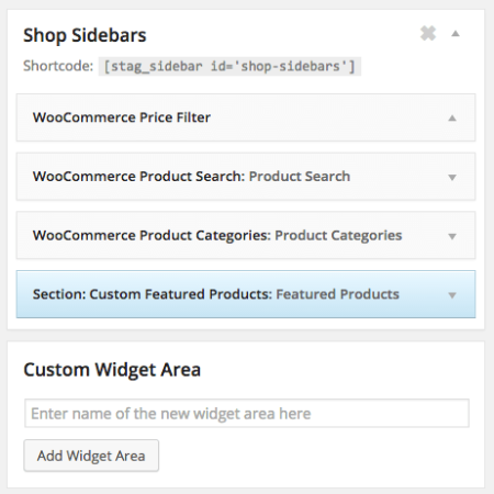 Best WooCommerce themes | Crux review:  sidebars
