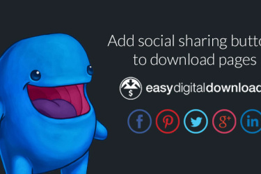 Add social sharing buttons to easy digital downloads