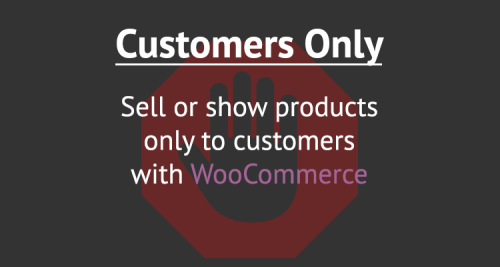 Create a store for customers only
