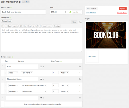iThemes Exchange Purchasing Club: create memberships