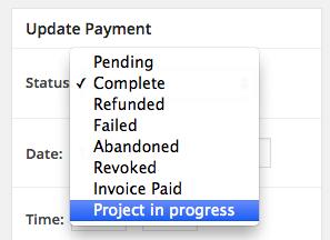 Easy Digital Downloads custom payment status: new statuses
