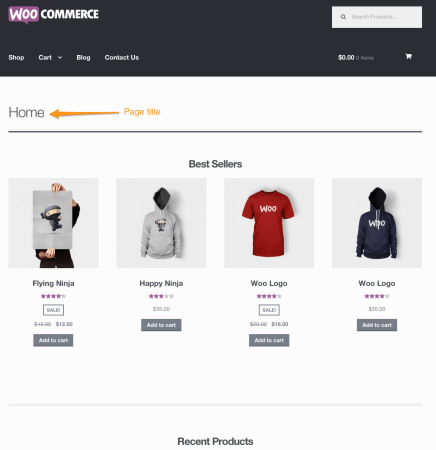 Storefront Homepage