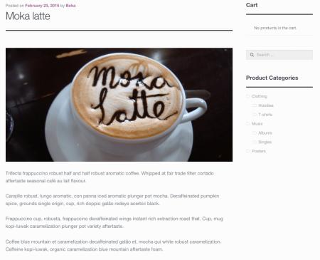 WooCommerce theme storefront no post meta - full width