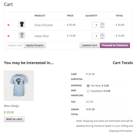 WooCommerce 2.3 Review: 2.2 cart page