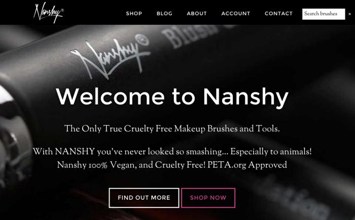 Nanshy vegan cruelty-free makeup tools
