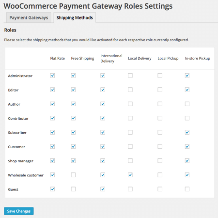 WooCommerce Shipping by Customer Role