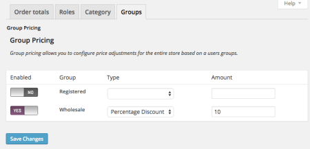 WooCommerce Group Percentage discount