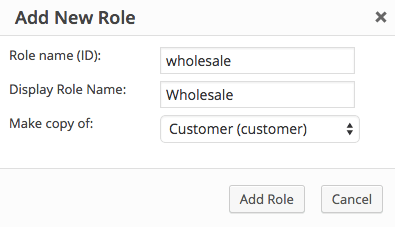 WooCommerce wholesale role