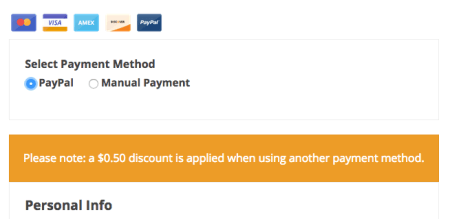 EDD PayPal fee notice
