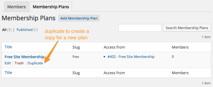 WooCommerce Memberships Review: Duplicate plan
