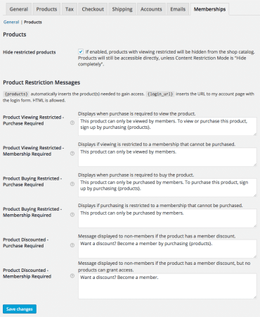 WooCommerce Memberships Review: Product Settings